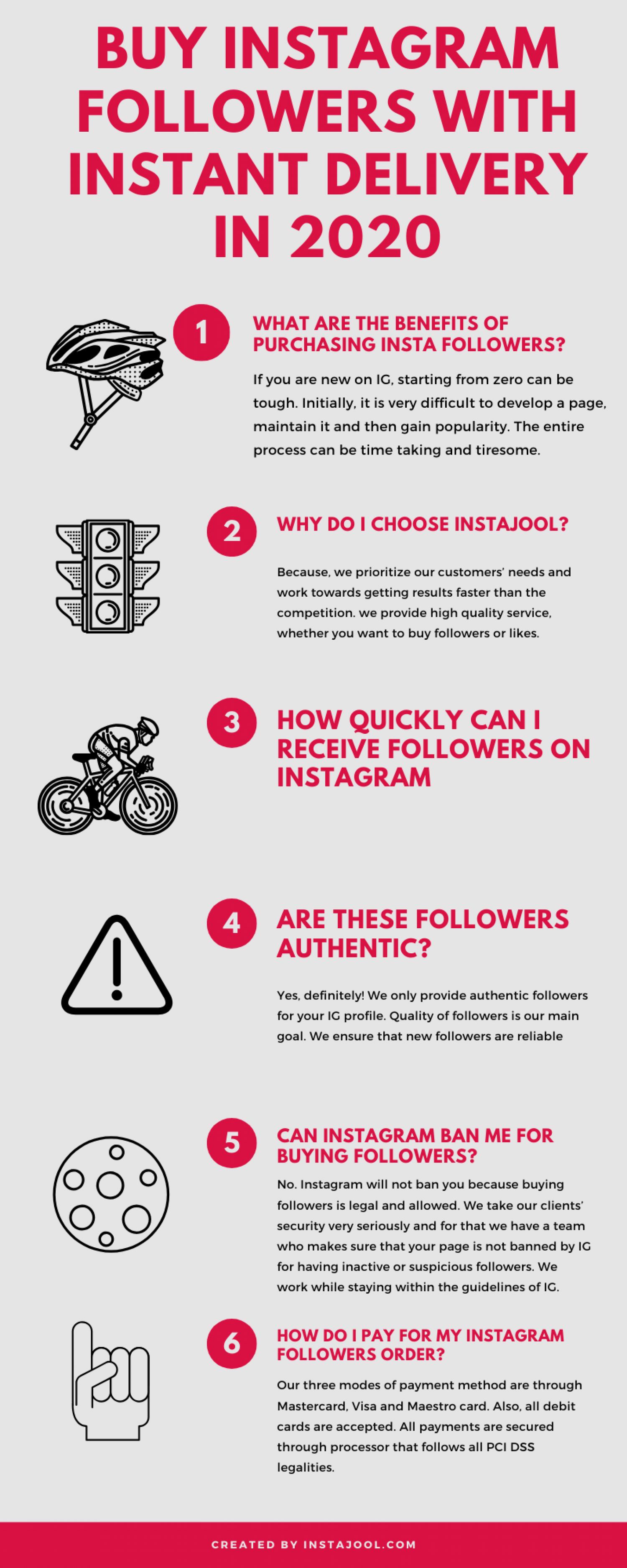Buy Instagram Followers with Instant Delivery in 2020 Infographic by Instajool.com Infographic