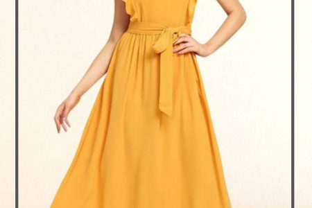 Buy Mustard Yellow Flare Dress - Summer Collection Infographic