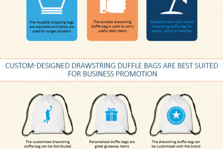 Buy Stylish Drawstring Duffle Bag from the Premium Online Store Printedbagfactory.com Infographic