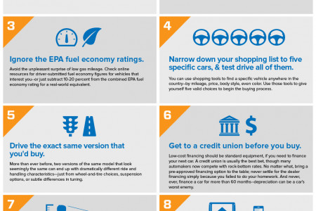 Buying A New Car: The 10 New Rules Infographic
