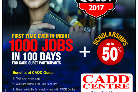 CADD Quest 2017 - India's Biggest Talent Search Initiative Infographic