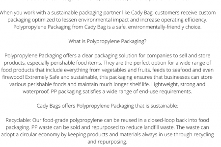 Cady Bag Offers Sustainable Packaging that Reduces your Environmental Impact Infographic