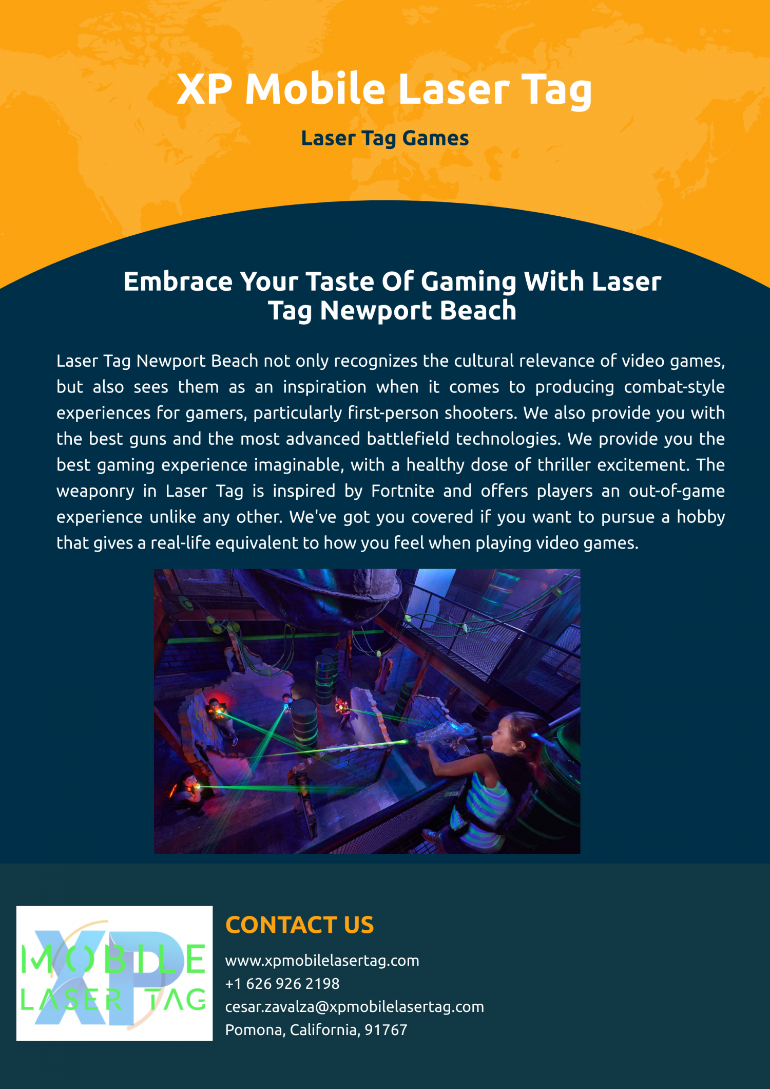 Call of duty laser tag is the largest game played in NYC with XP Mobile Laser Tag: Infographic