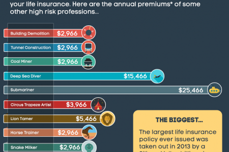 Can Astronauts Get Life Insurance? The Costs Of Insuring The World's Riskiest Jobs. Infographic