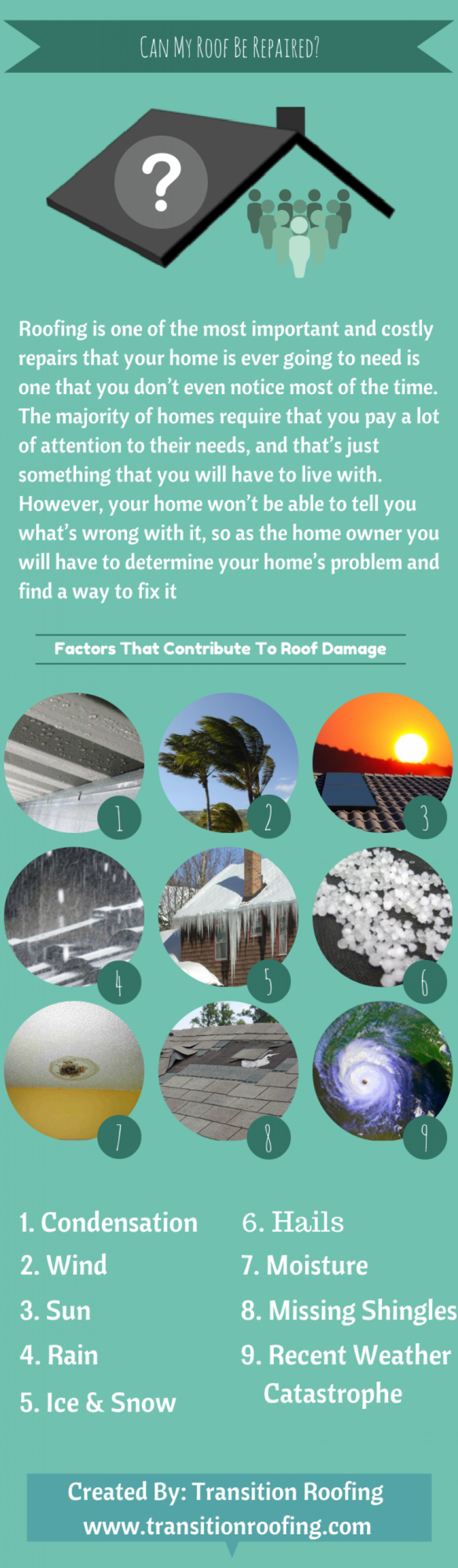 Can My Roof Be Repaired? Infographic