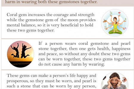 Can We wear pearl or red coral together Infographic