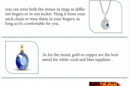 Can White Coral and Blue Sapphire Be Worn Together? Infographic