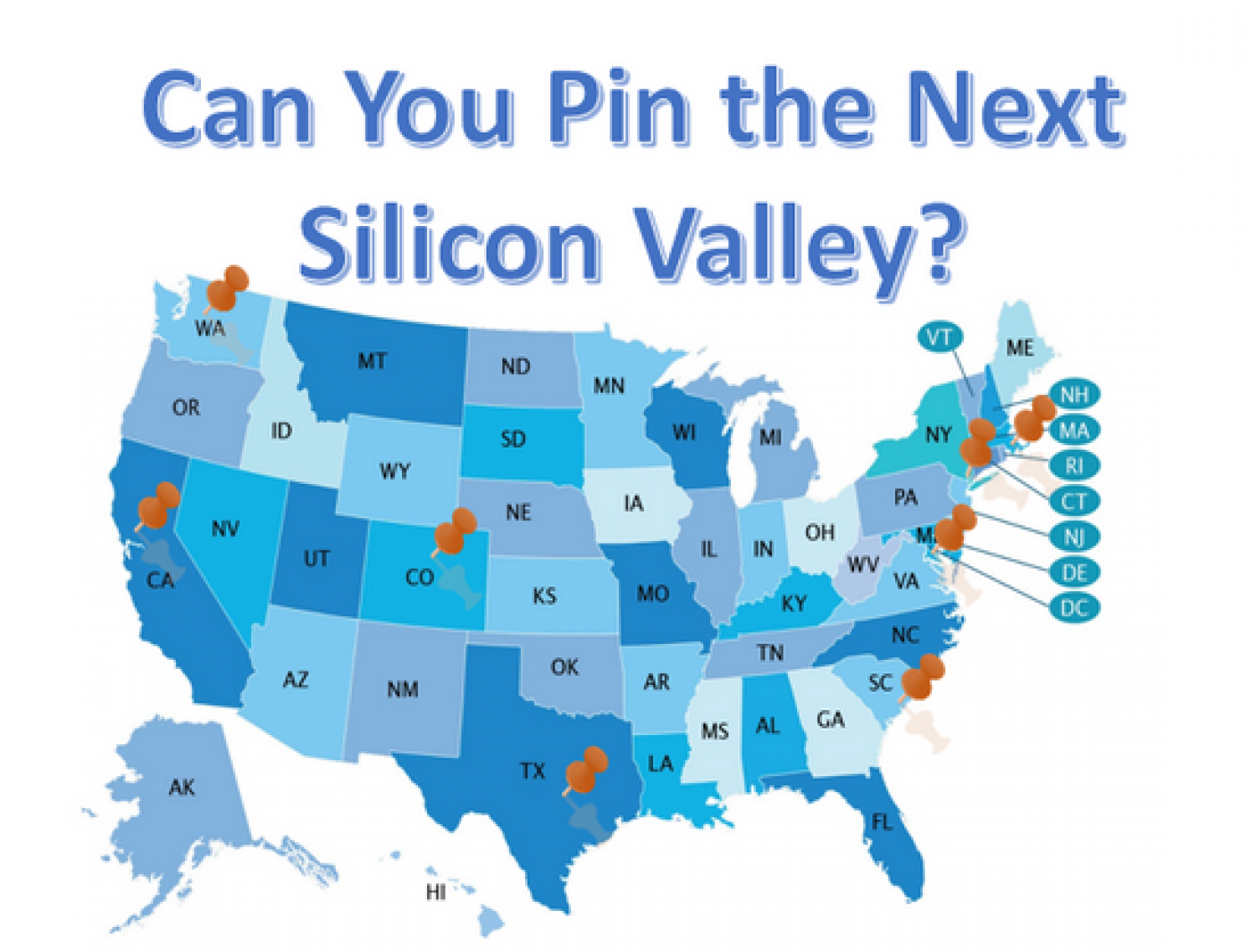 Can You Pin The Next Silicon Valley? Infographic