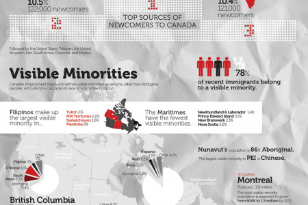 Canada's Increasingly Multiculturall Community Infographic