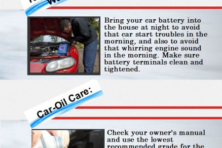Car Care Tips For Cold  Weather Infographic