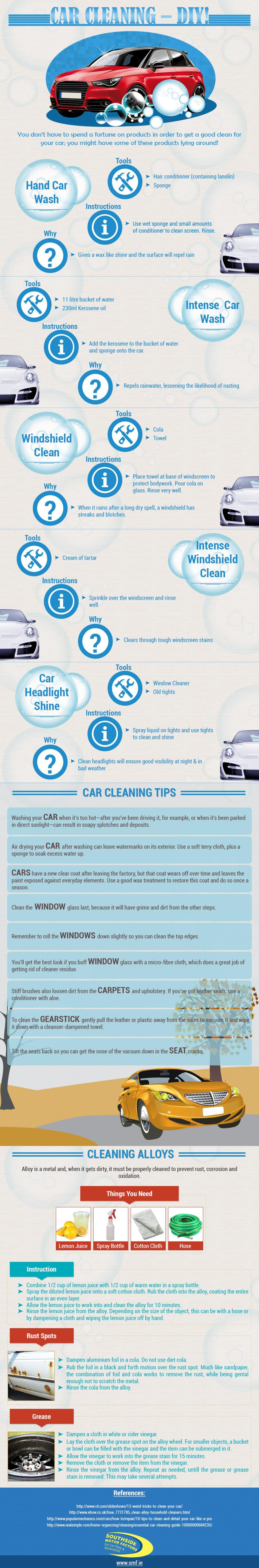 Car Cleaning - DIY Infographic