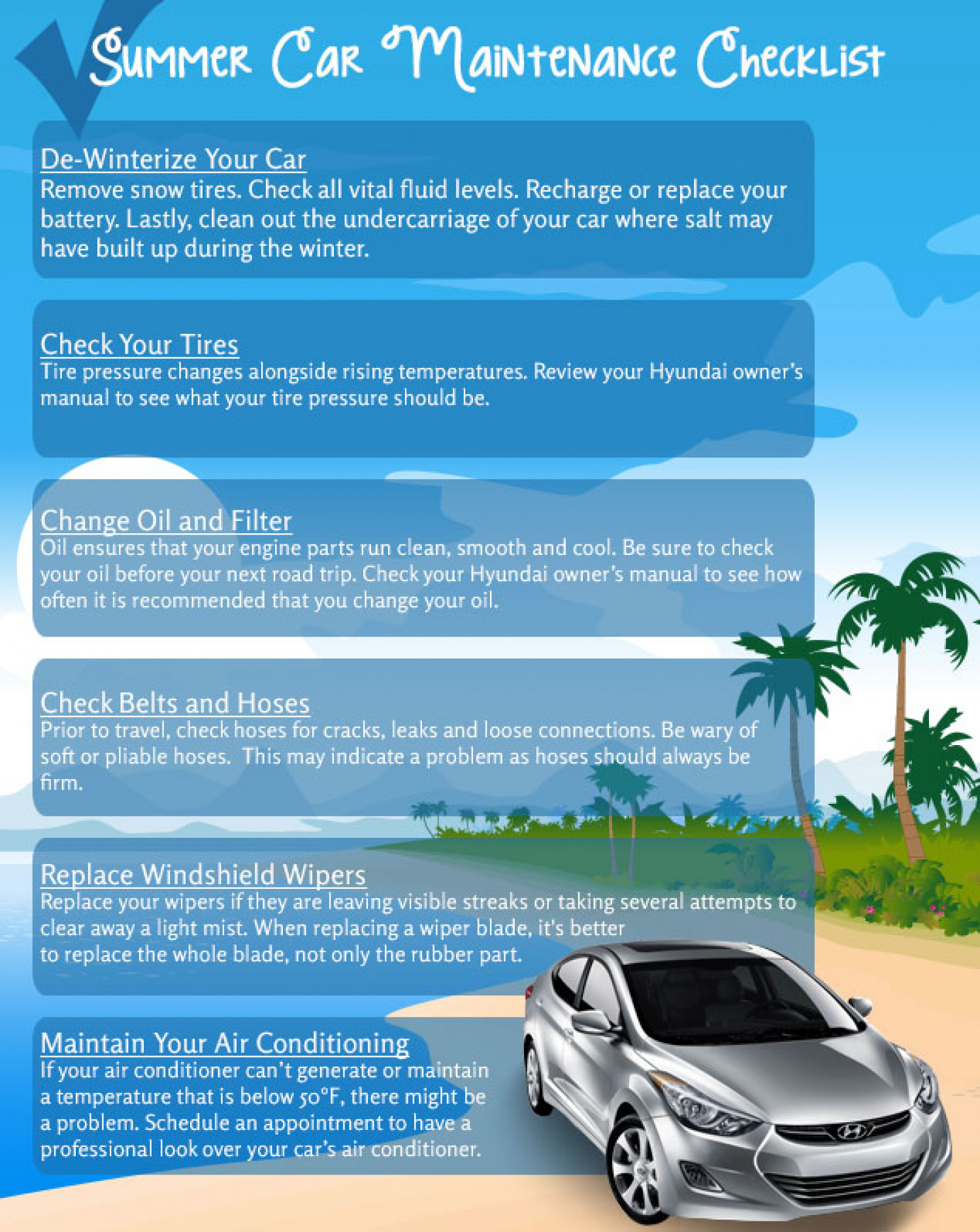 Car Maintenance Checklist for Summer Infographic