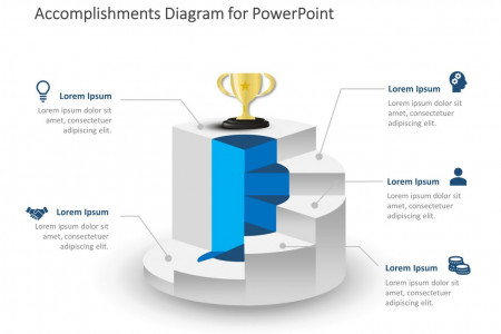 Career Accomplishment PowerPoint Template Infographic