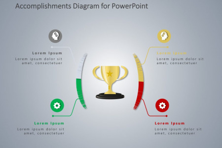 Career Accomplishments PowerPoint Template Infographic