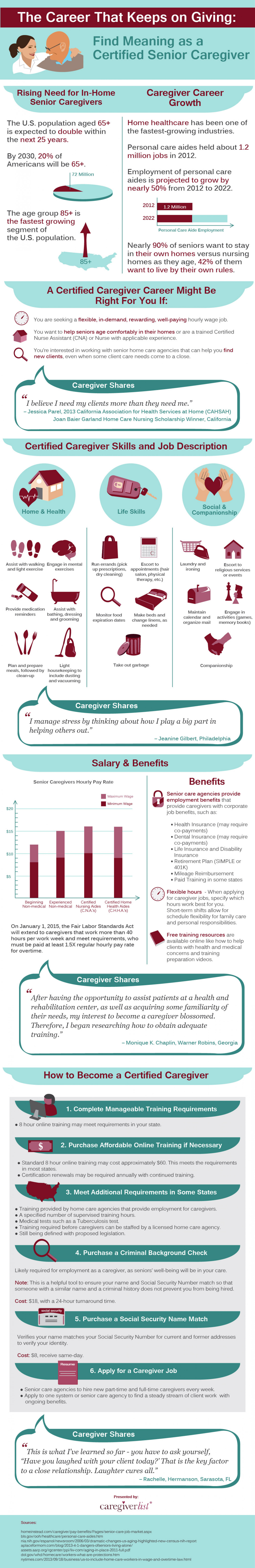 Caregiver Career Overview Infographic