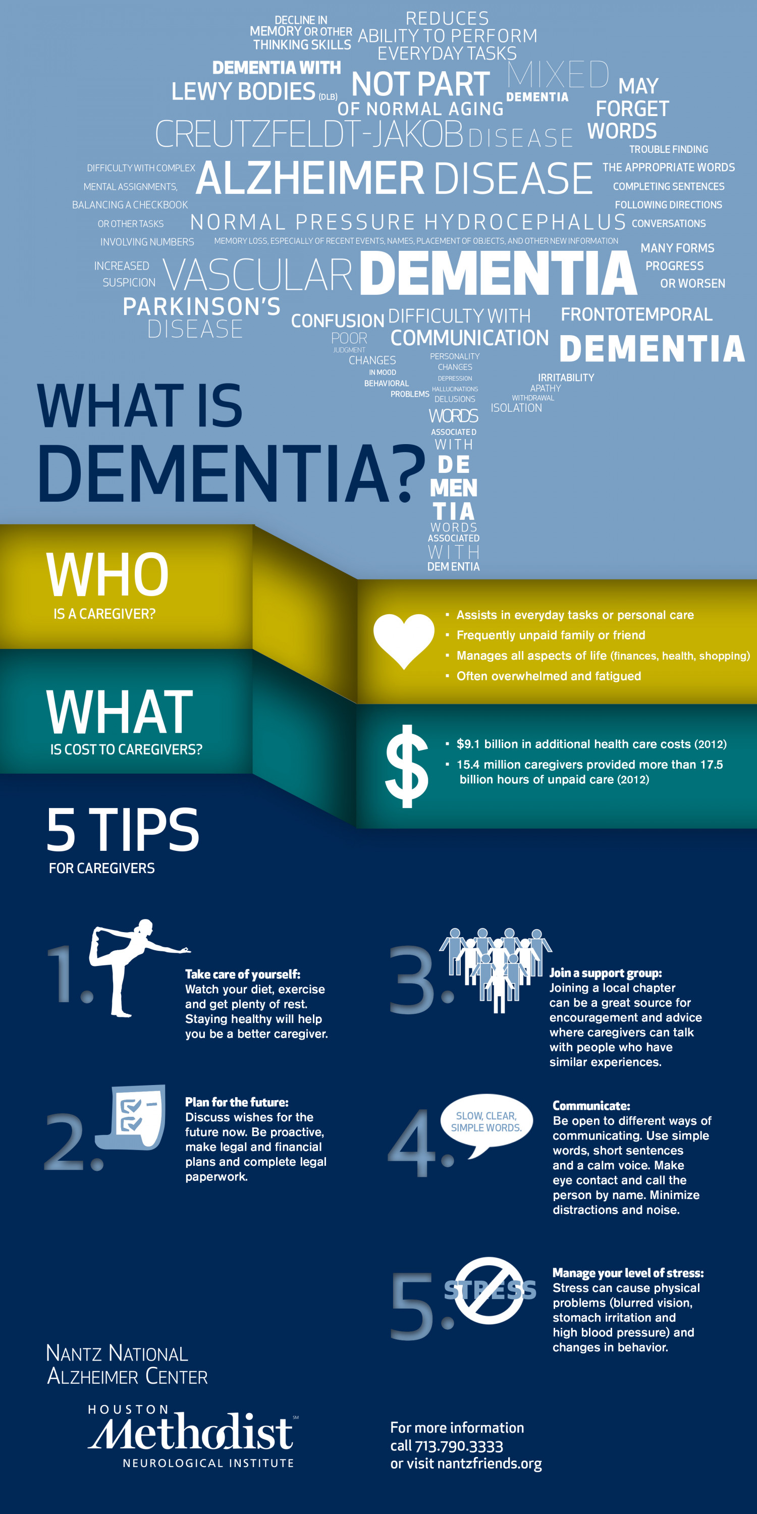 Caregiver Tips for Dealing with Memory Changes Infographic