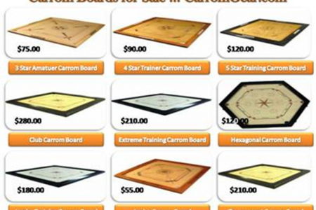 Carrom Boards for Sale - Board Games Infographic