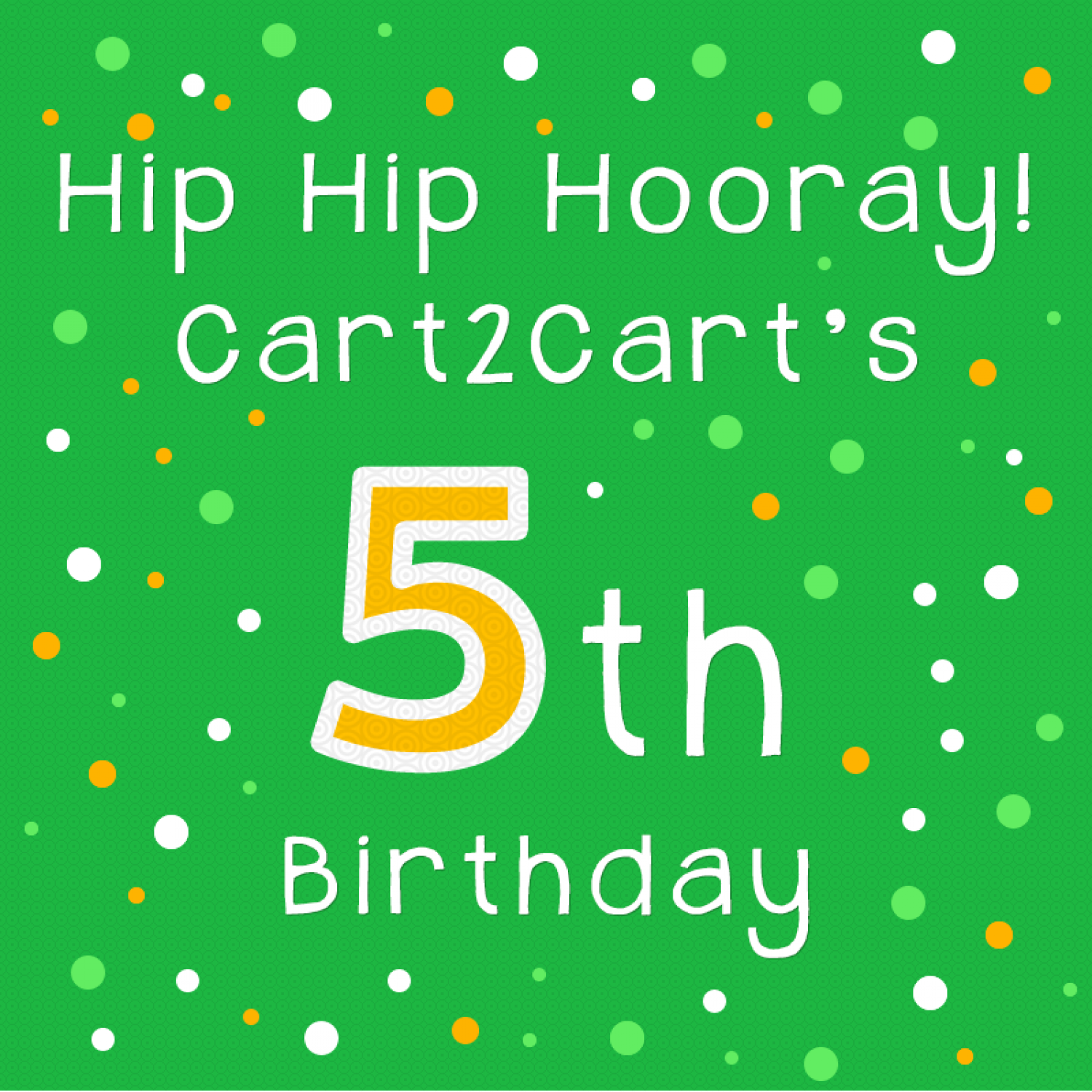 Cart2Cart 5 years Anniversary  Infographic