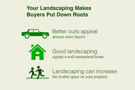 Cashing in on Custom Landscaping Infographic