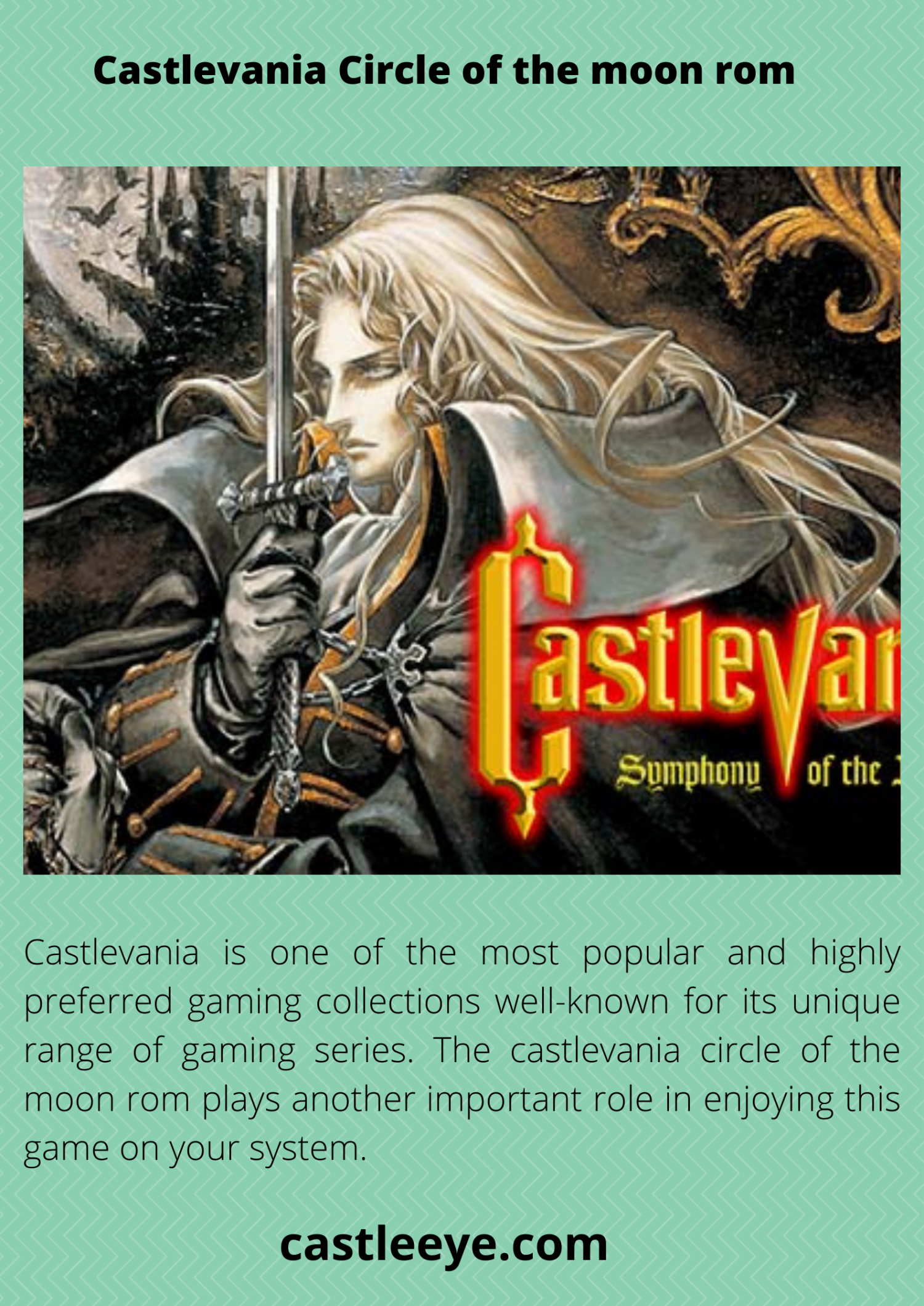 Castlevania circle of the moon rom Infographic