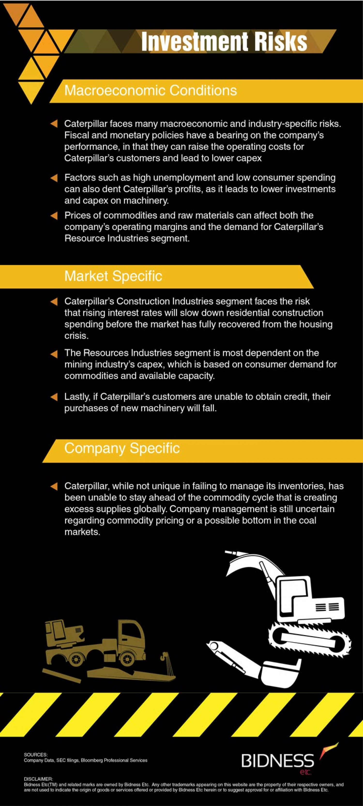 Caterpillar (CAT) Investment Risks Infographic