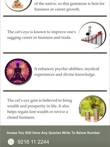 Cat's Eye Gemstone For Professional Growth Infographic