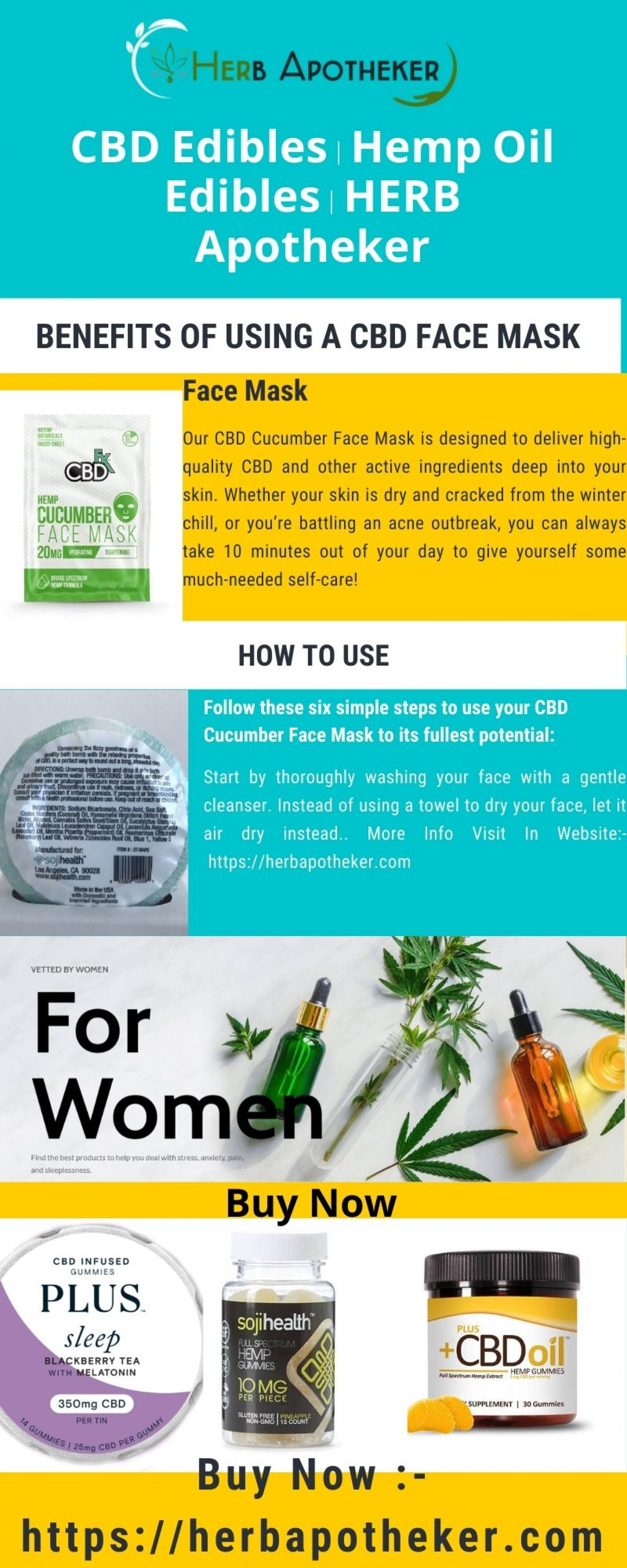 CBD For Stress & Mood Support - HERB Apotheker Infographic