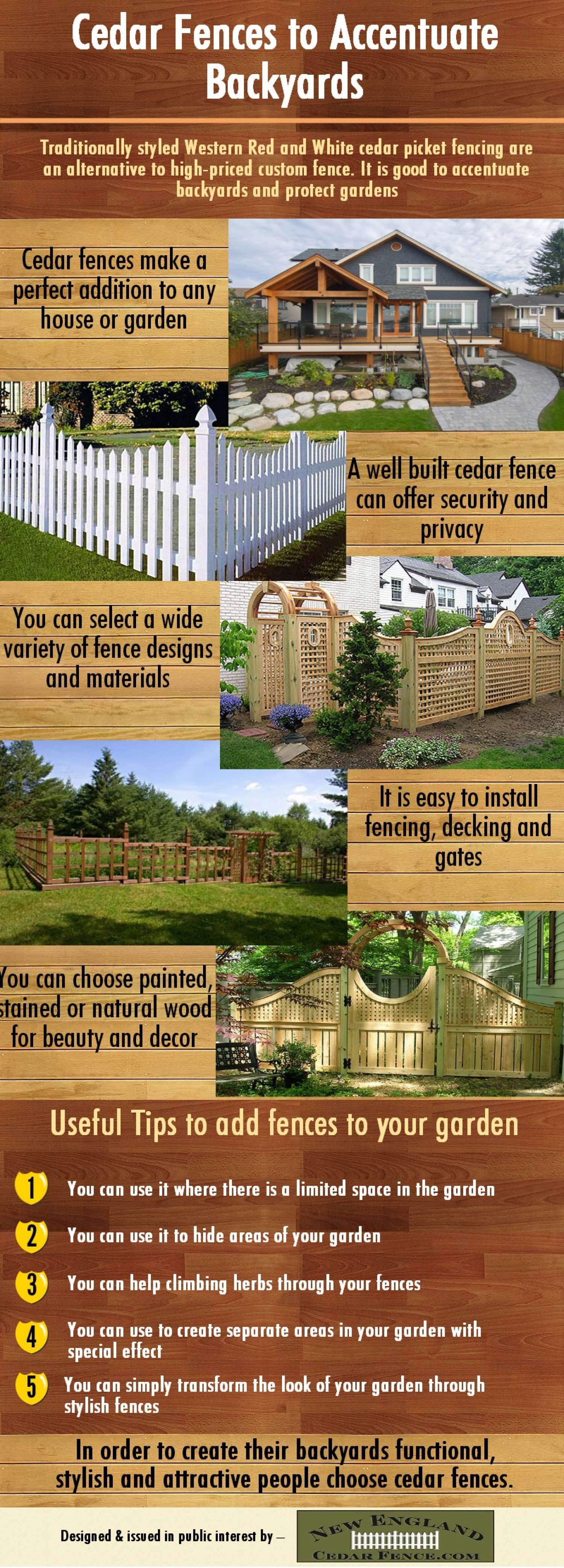 Cedar Fences to Accentuate Backyards Infographic