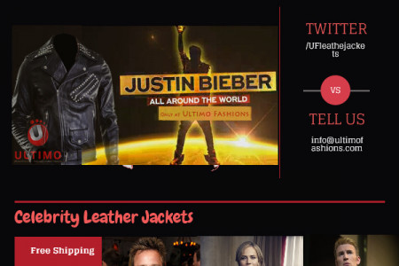 Celebrity Leather Jackets Infographic