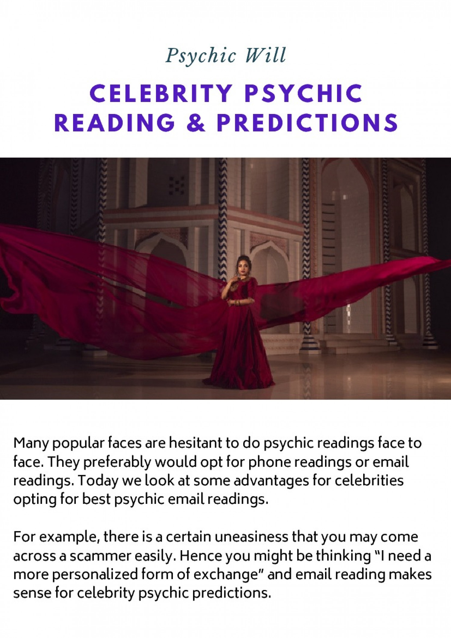 Celebrity Psychic Reading & Predictions Infographic