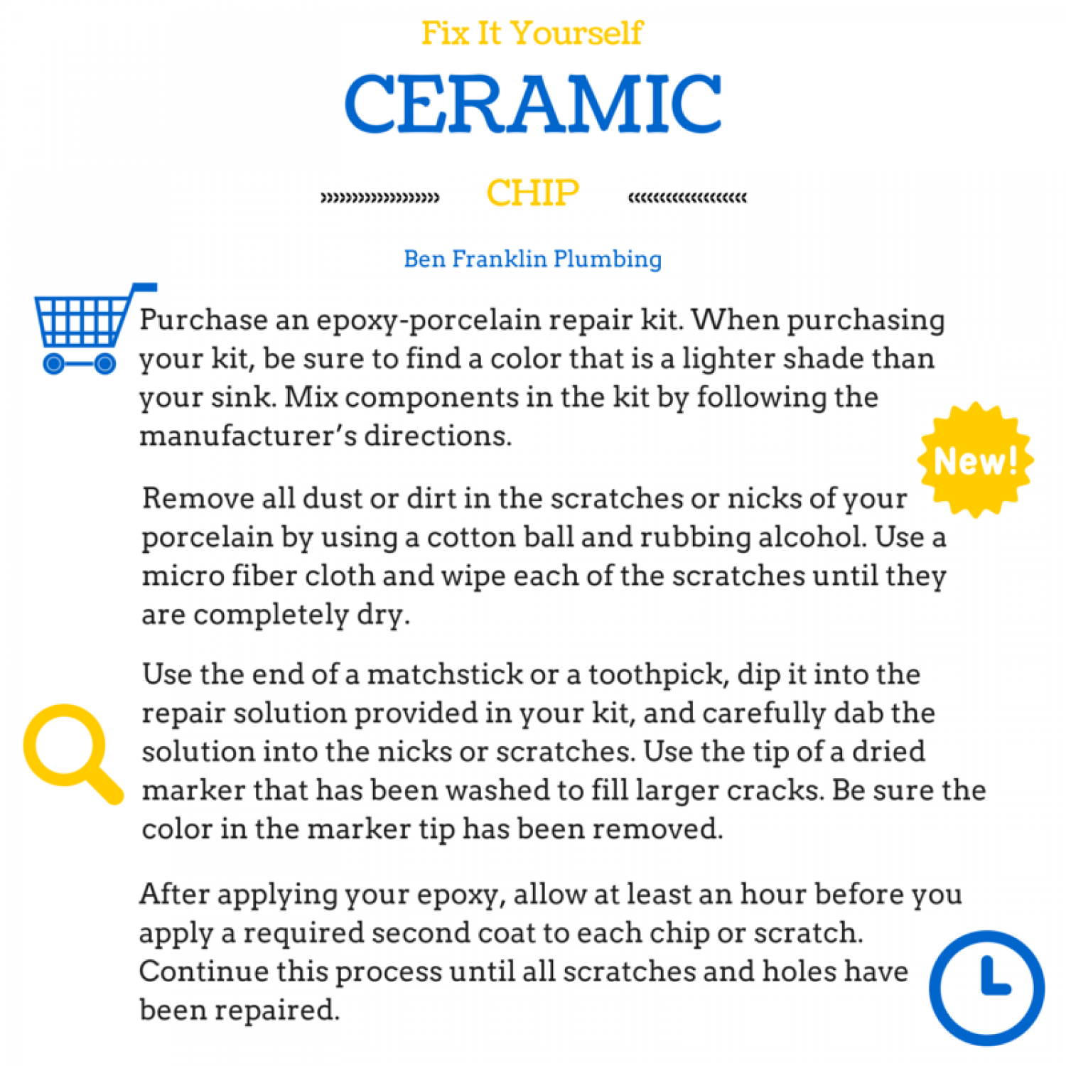 how to fix chips in ceramic