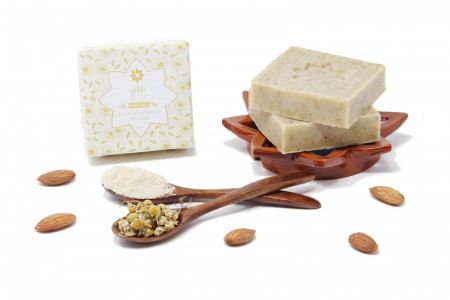 Chamomile And Almonds Soap Infographic
