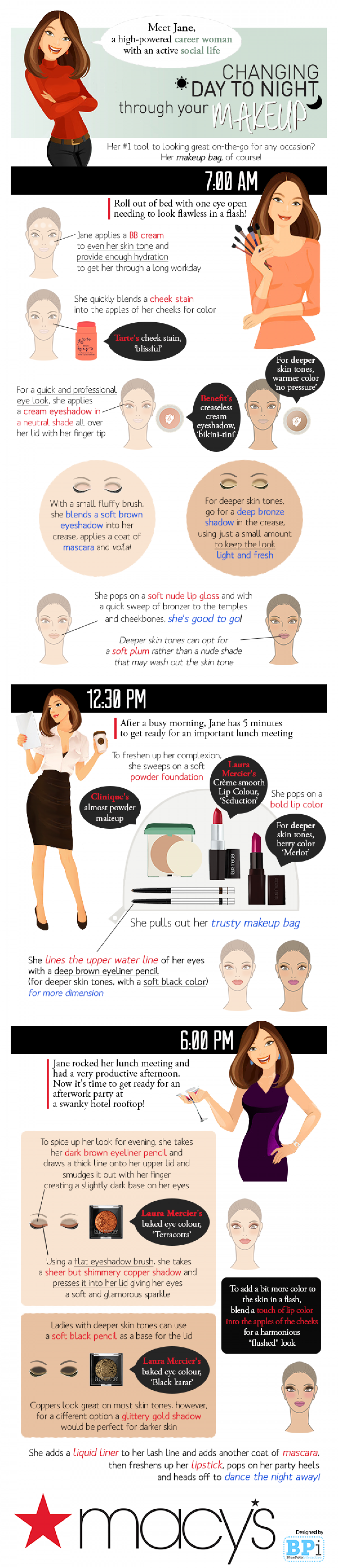 Changing From Day to Night Through Your Makeup Infographic