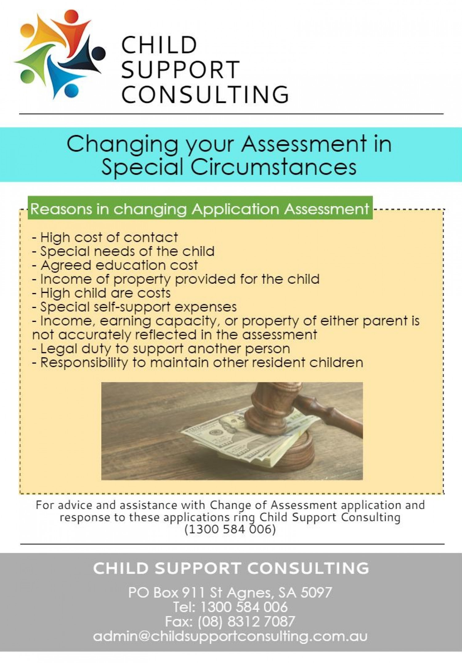 Changing your Assessment in Special Circumstances Infographic