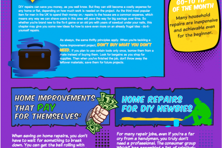 Chapter 10 of the Frugal Living Handbook: Repairs Infographic
