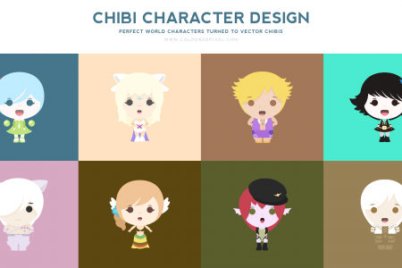 Character Design Presentation Infographic