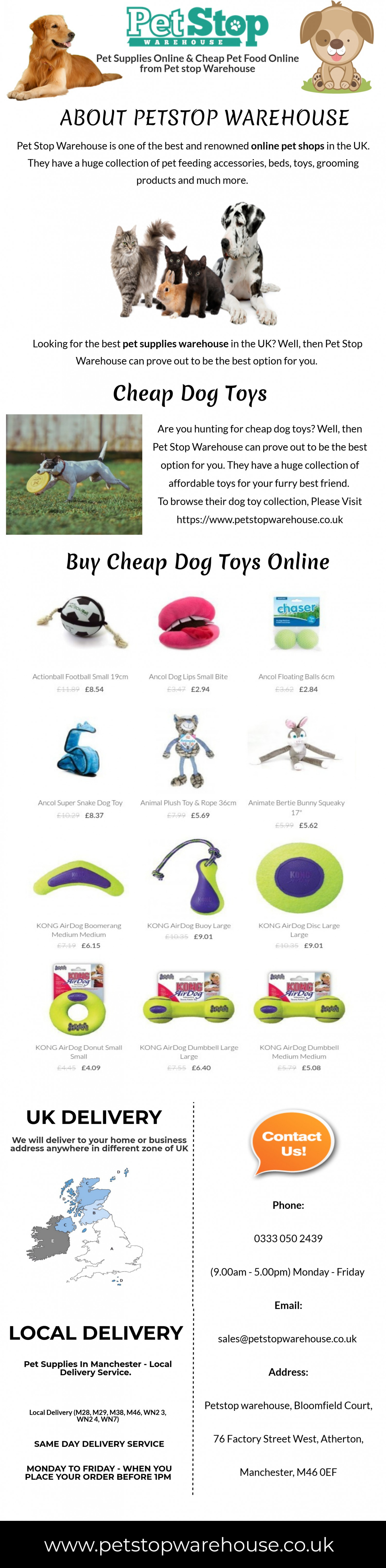 Cheap Dog Toys | Petstop Warehouses Infographic
