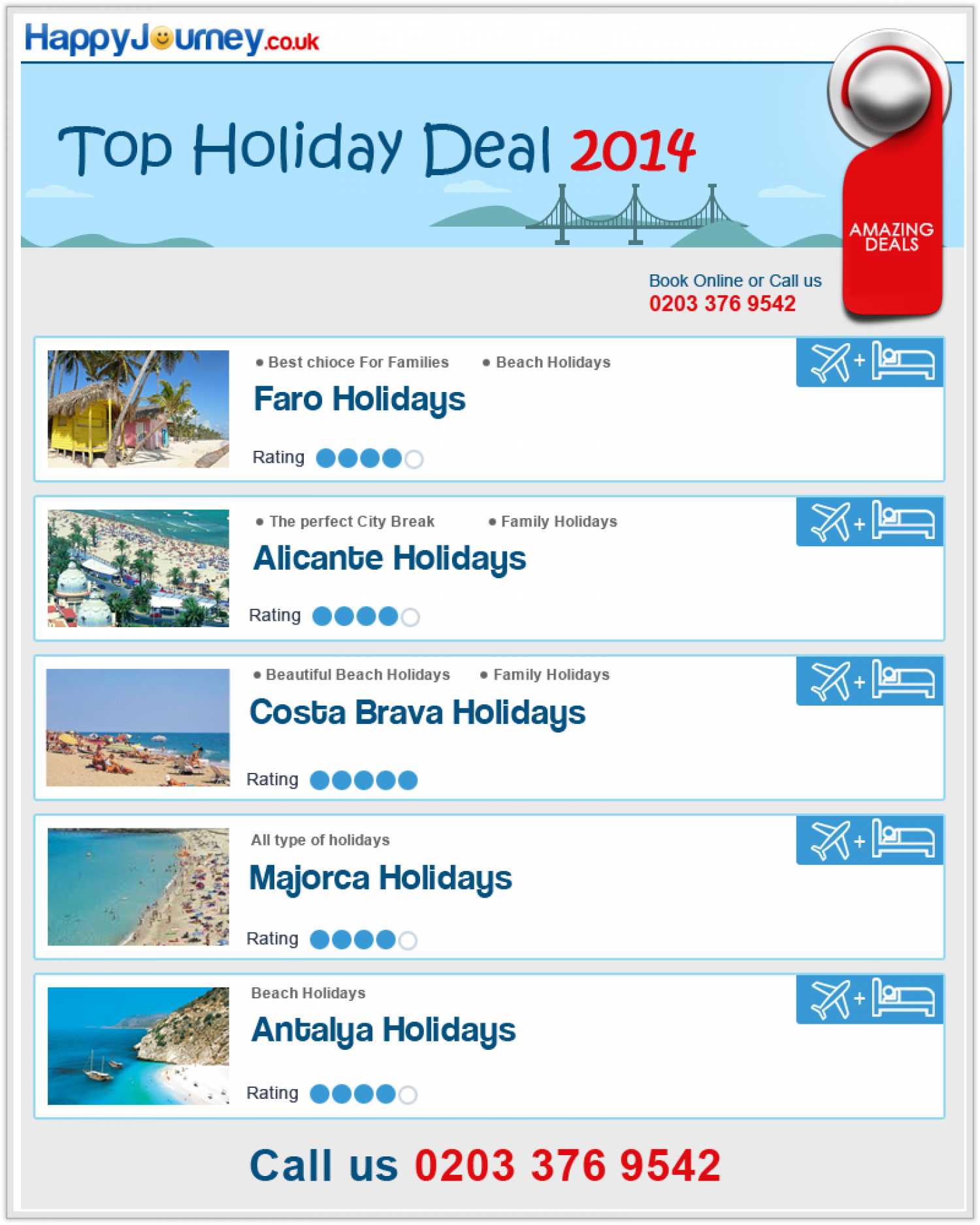 Cheap deals of the day holidays
