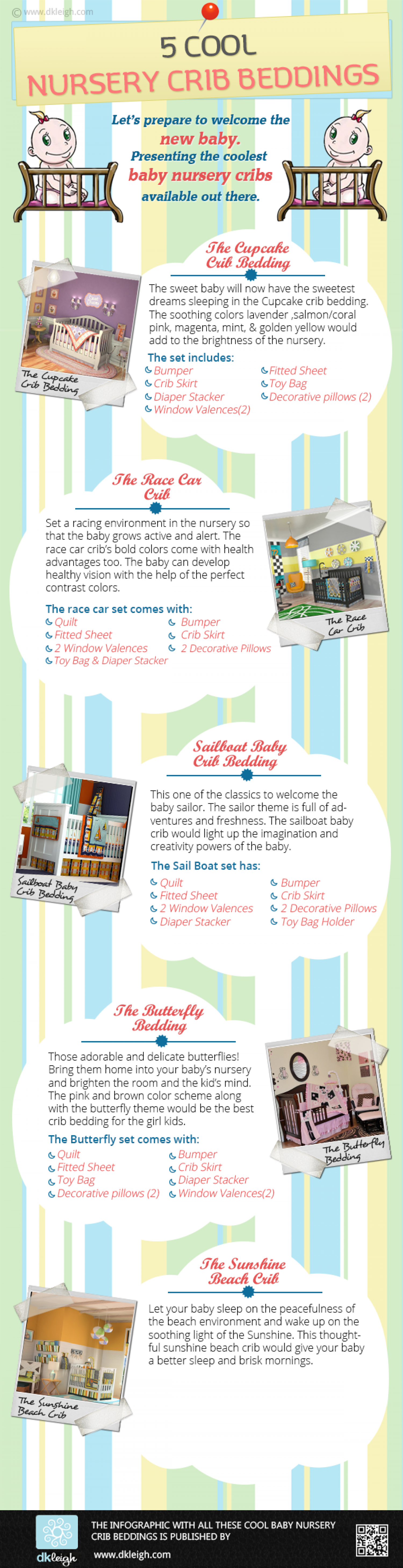 Check Out 5 Cool Nursery Crib Beddings Infographic