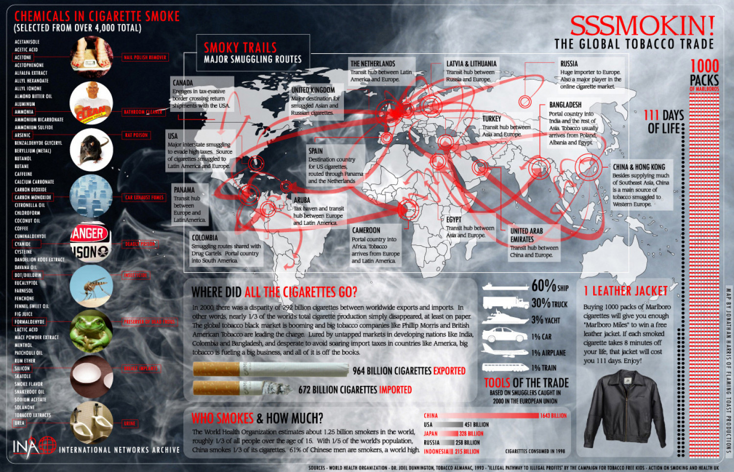 Chemicals in Cigarette Smoke Infographic