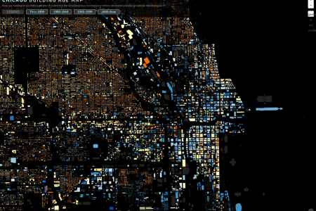 Chicago Building Age Map Infographic