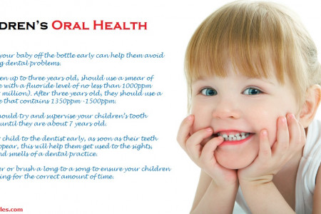 Children's Oral Health Care Tips by orthodontist specialist Infographic