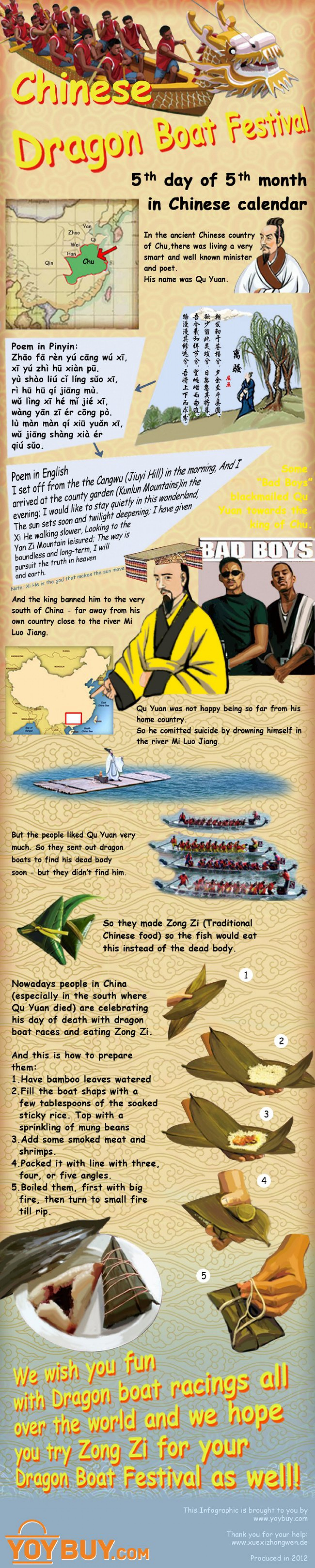 Chinese Dragon Boat Festival (infographic) Infographic