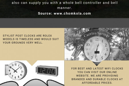 Chomko LA Clocks and Wireless System at Affordable Prices Infographic