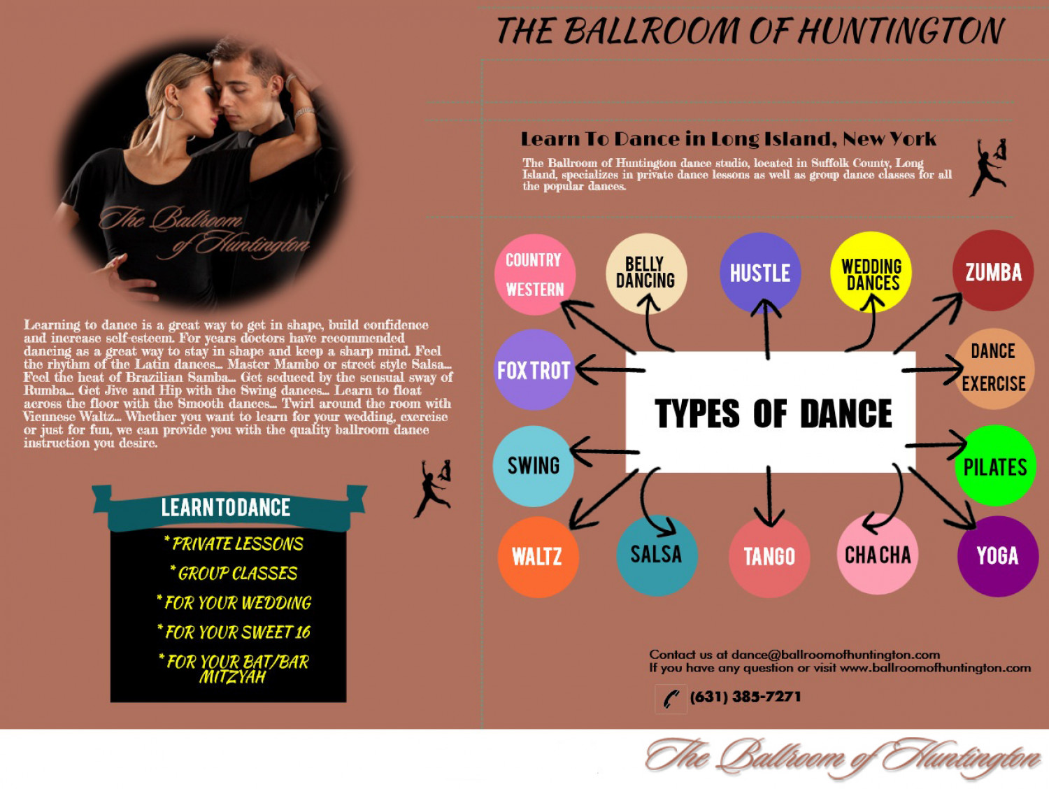 Choose Ballroom of Huntington to Learn All Types of Ballroom Dancing Infographic