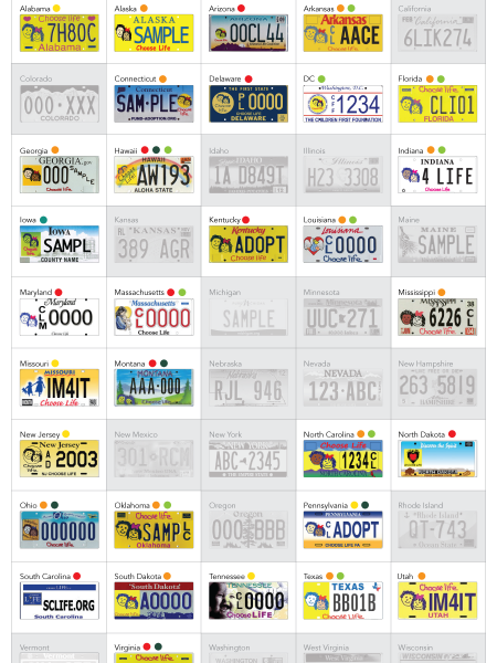 'Choose Life' Plates Fund Antichoice Organizations Infographic