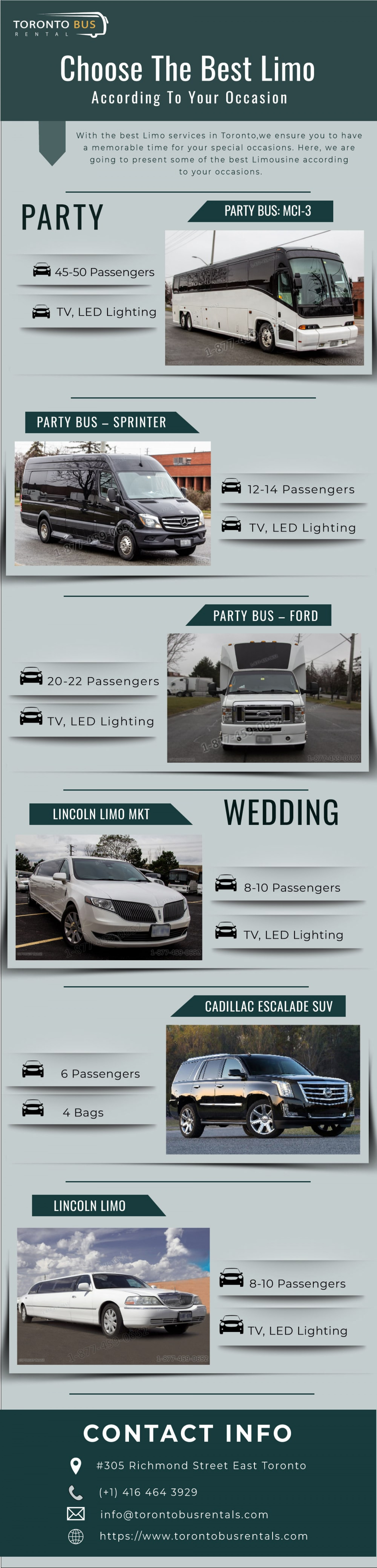 Choose the Best Limo According To Your Occasion Infographic
