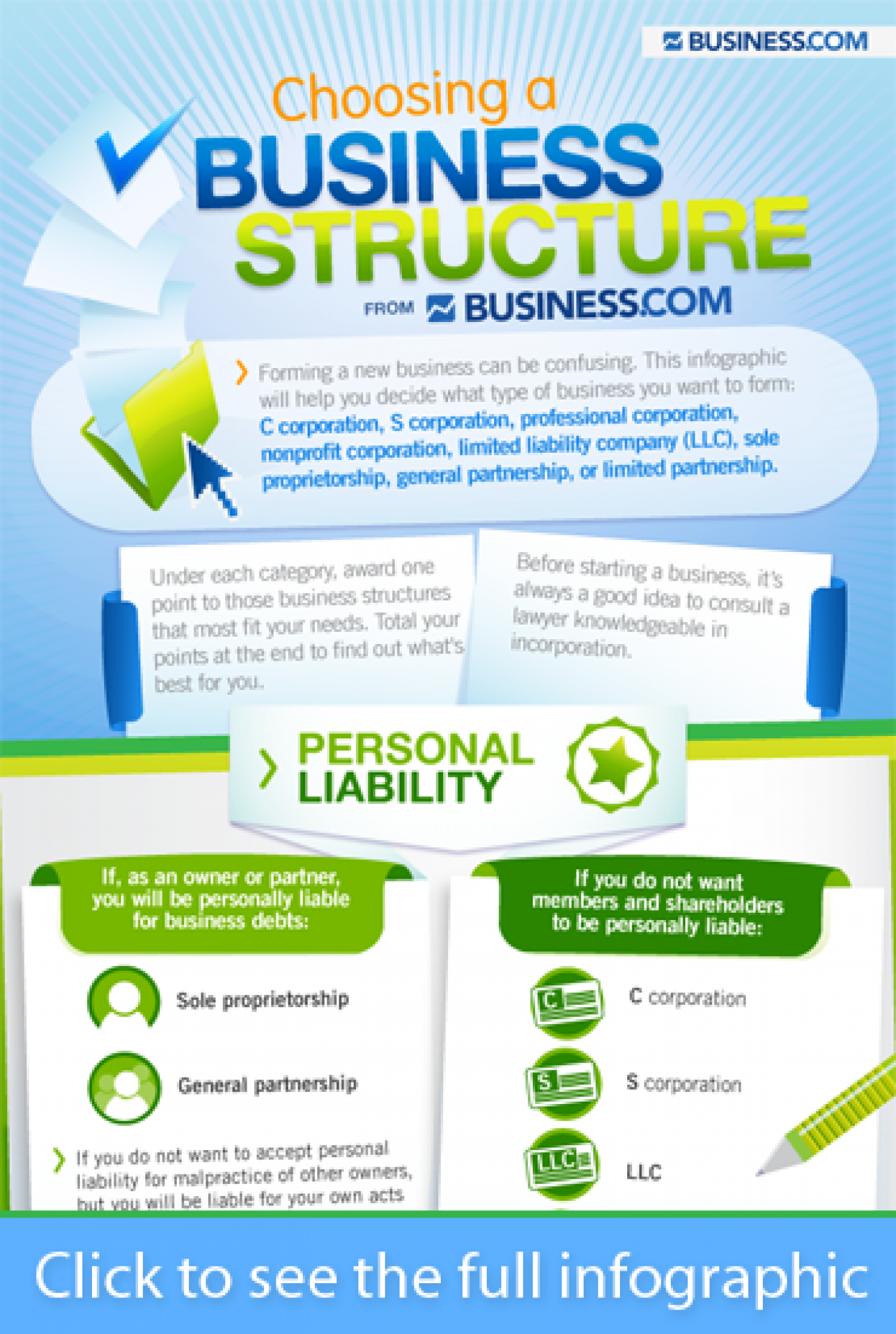 Choosing a Business Structure Infographic