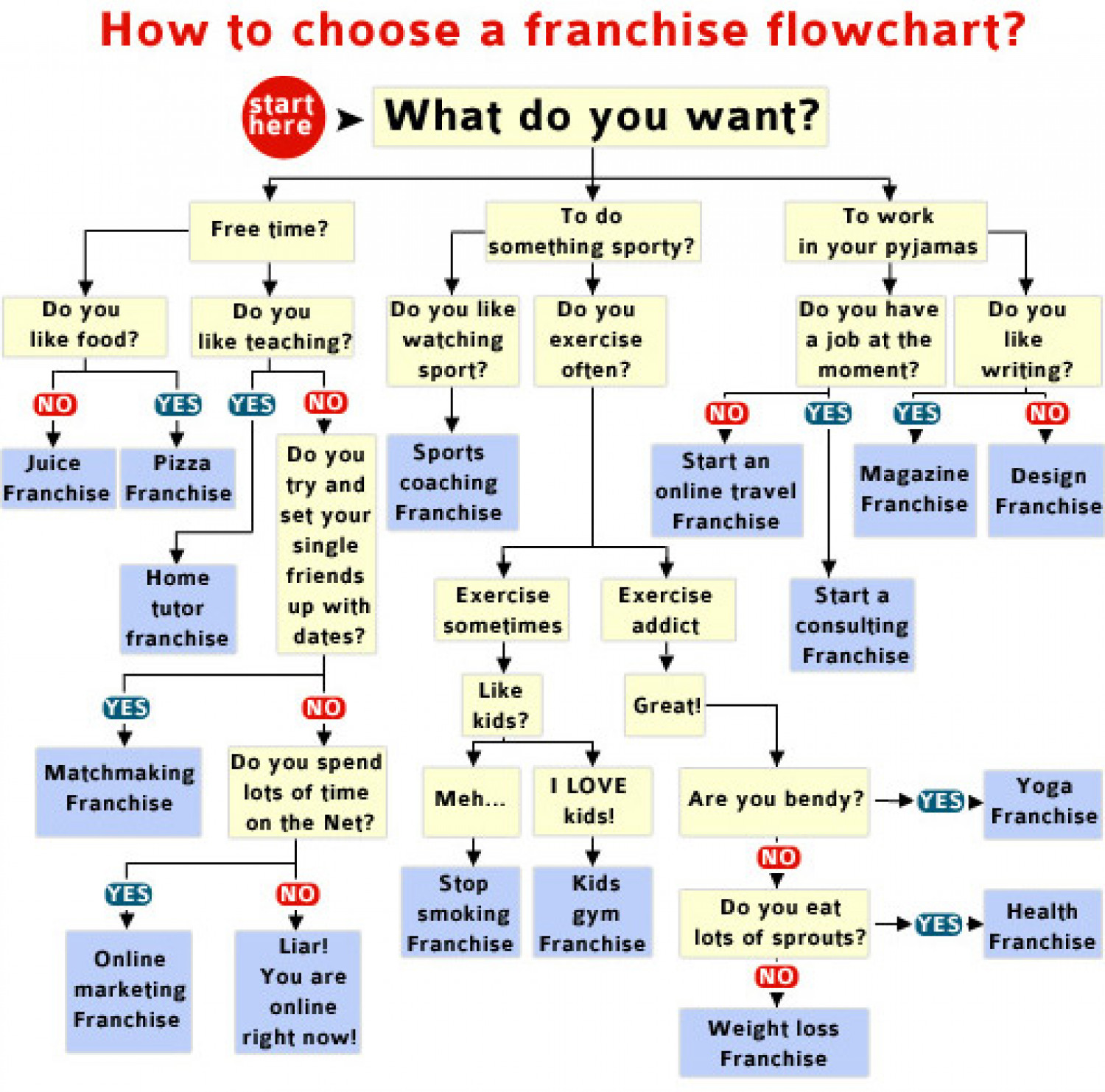 Choosing a franchise flowchart Infographic