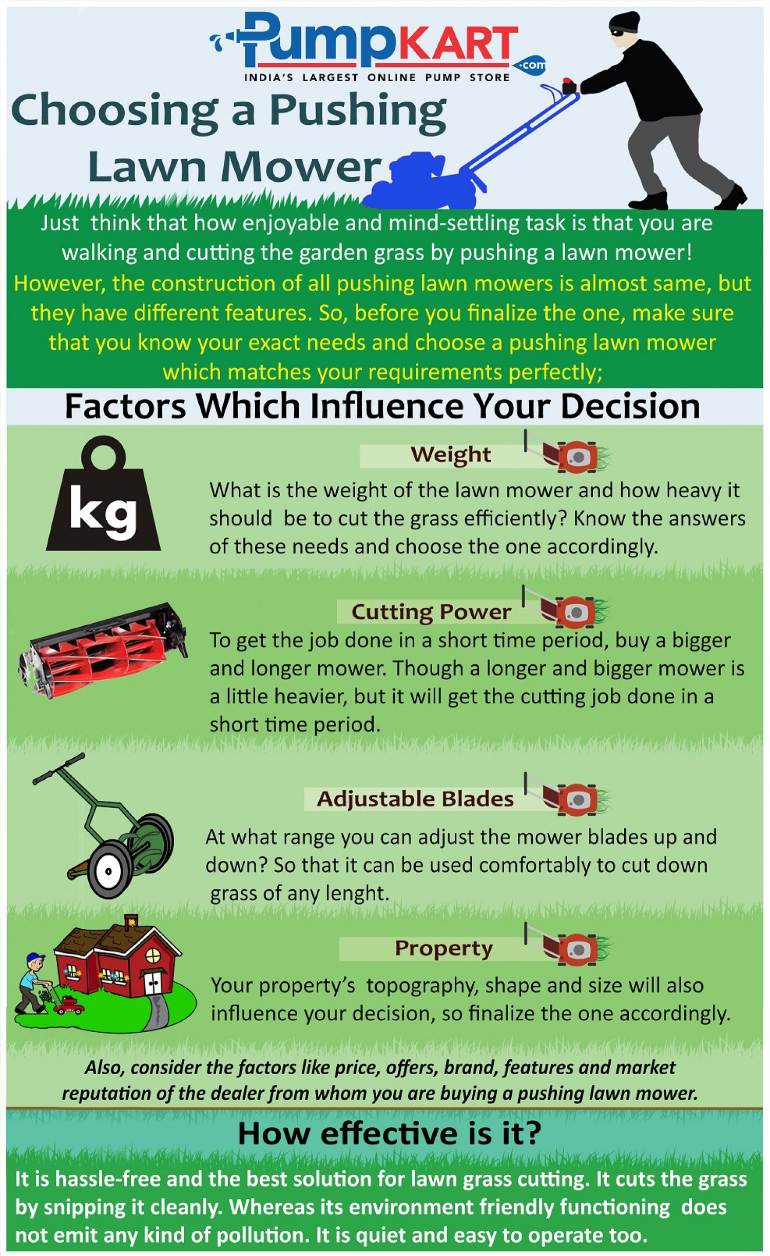 choosing a pushing lawn mower visual ly choosing a pushing lawn mower infographic